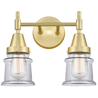 Innovations Lighting 447-2W-SB-G182S Caden 2 Light 14 inch Satin Brass Bath Vanity Light Wall Light