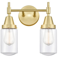 Innovations Lighting 447-2W-SB-G312-LED Caden LED 14 inch Satin Brass Bath Vanity Light Wall Light