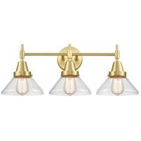 Innovations Lighting 447-3W-SB-CL Caden 3 Light 26 inch Satin Brass Bath Vanity Light Wall Light