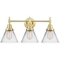 Innovations Lighting 447-3W-SB-G42 Caden 3 Light 26 inch Satin Brass Bath Vanity Light Wall Light