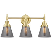 Innovations Lighting 447-3W-SB-G63 Caden 3 Light 24 inch Satin Brass Bath Vanity Light Wall Light
