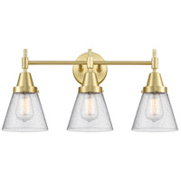 Innovations Lighting 447-3W-SB-G64 Caden 3 Light 24 inch Satin Brass Bath Vanity Light Wall Light