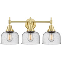 Innovations Lighting 447-3W-SB-G74 Caden 3 Light 26 inch Satin Brass Bath Vanity Light Wall Light