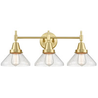 Innovations Lighting 447-3W-SB-SDY Caden 3 Light 26 inch Satin Brass Bath Vanity Light Wall Light