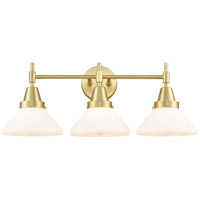 Innovations Lighting 447-3W-SB-W Caden 3 Light 26 inch Satin Brass Bath Vanity Light Wall Light