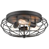 Innovations Lighting 510-3C-BK Muselet 3 Light 15 inch Matte Black Flush Mount Ceiling Light Austere