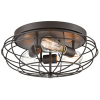 Innovations Lighting 510-3C-OB-LED Muselet LED 15 inch Oil Rubbed Bronze Flush Mount Ceiling Light Austere