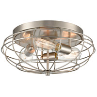 Innovations Lighting 510-3C-SN-LED Muselet LED 15 inch Brushed Satin Nickel Flush Mount Ceiling Light Austere