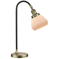 Black Brook 22 inch 100 watt Black and Antique Brass Table Lamp Portable Light