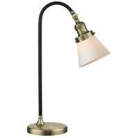 Innovations Lighting 515-1L-BAB-G61 Black Brook 22 inch 100 watt Black and Antique Brass Table Lamp Portable Light, Small, Cone