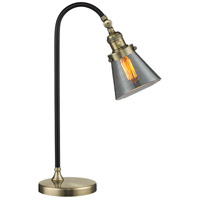 Innovations Lighting 515-1L-BAB-G63 Black Brook 22 inch 100 watt Black and Antique Brass Table Lamp Portable Light, Small, Cone