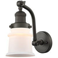 Innovations Lighting 515-1W-OB-G181S Small Canton 1 Light 7 inch Oil Rubbed Bronze Sconce Wall Light Franklin Restoration