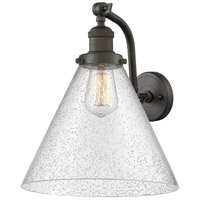 Innovations Lighting 515-1W-OB-G44-L X-Large Cone 1 Light 12 inch Oil Rubbed Bronze Sconce Wall Light Franklin Restoration
