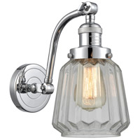 Innovations Lighting 515-1W-PC-G142 Chatham 1 Light 6 inch Polished Chrome Sconce Wall Light Franklin Restoration