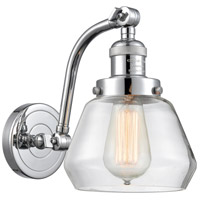 Innovations Lighting 515-1W-PC-G172 Fulton 1 Light 7 inch Polished Chrome Sconce Wall Light Franklin Restoration