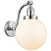 Innovations Lighting 515-1W-PC-G201-8 Large Beacon 1 Light 8 inch Polished Chrome Sconce Wall Light Franklin Restoration