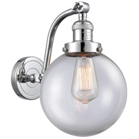 Innovations Lighting 515-1W-PC-G202-8 Large Beacon 1 Light 8 inch Polished Chrome Sconce Wall Light Franklin Restoration