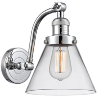 Innovations Lighting 515-1W-PC-G42 Large Cone 1 Light 8 inch Polished Chrome Sconce Wall Light
