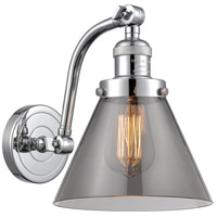 Innovations Lighting 515-1W-PC-G43 Large Cone 1 Light 8 inch Polished Chrome Sconce Wall Light