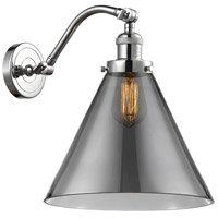 Innovations Lighting 515-1W-PC-G43-L-LED X-Large Cone LED 12 inch Polished Chrome Sconce Wall Light Franklin Restoration