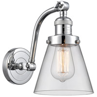 Innovations Lighting 515-1W-PC-G62 Small Cone 1 Light 7 inch Polished Chrome Sconce Wall Light Franklin Restoration