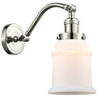 Innovations Lighting 515-1W-PN-G181-LED Canton LED 7 inch Polished Nickel Sconce Wall Light, Franklin Restoration