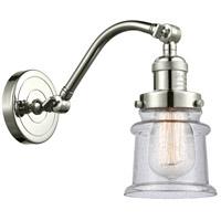 Innovations Lighting 515-1W-PN-G184S Small Canton 1 Light 7 inch Polished Nickel Sconce Wall Light Franklin Restoration
