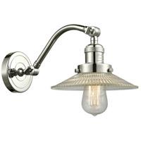 Innovations Lighting 515-1W-PN-G2-LED Halophane LED 9 inch Polished Nickel Sconce Wall Light, Franklin Restoration