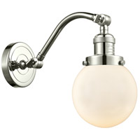 Innovations Lighting 515-1W-PN-G201-6-LED Beacon LED 6 inch Polished Nickel Sconce Wall Light Franklin Restoration