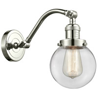 Innovations Lighting 515-1W-PN-G202-6-LED Beacon LED 6 inch Polished Nickel Sconce Wall Light Franklin Restoration