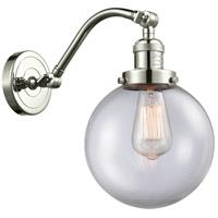 Innovations Lighting 515-1W-PN-G202-8-LED Large Beacon LED 8 inch Polished Nickel Sconce Wall Light, Franklin Restoration