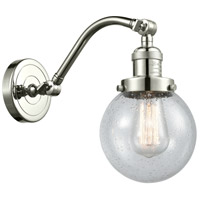 Innovations Lighting 515-1W-PN-G204-6-LED Beacon LED 6 inch Polished Nickel Sconce Wall Light Franklin Restoration