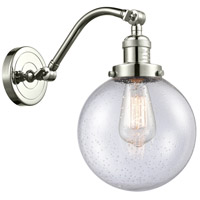 Innovations Lighting 515-1W-PN-G204-8-LED Large Beacon LED 8 inch Polished Nickel Sconce Wall Light Franklin Restoration