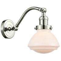 Innovations Lighting 515-1W-PN-G321-LED Olean LED 7 inch Polished Nickel Sconce Wall Light, Franklin Restoration