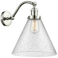 Innovations Lighting 515-1W-PN-G44-L X-Large Cone 1 Light 12 inch Polished Nickel Sconce Wall Light Franklin Restoration