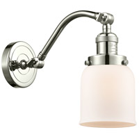 Innovations Lighting 515-1W-PN-G51-LED Small Bell LED 5 inch Polished Nickel Sconce Wall Light Franklin Restoration