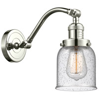 Innovations Lighting 515-1W-PN-G54-LED Small Bell LED 5 inch Polished Nickel Sconce Wall Light Franklin Restoration