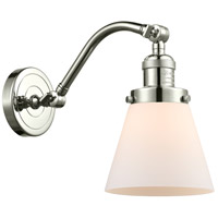Innovations Lighting 515-1W-PN-G61-LED Small Cone LED 7 inch Polished Nickel Sconce Wall Light Franklin Restoration