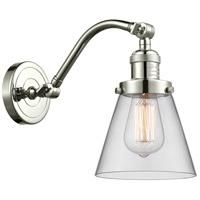 Innovations Lighting 515-1W-PN-G62 Small Cone 1 Light 7 inch Polished Nickel Sconce Wall Light Franklin Restoration