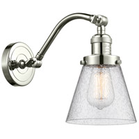 Innovations Lighting 515-1W-PN-G64-LED Small Cone LED 7 inch Polished Nickel Sconce Wall Light Franklin Restoration