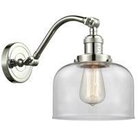 Innovations Lighting 515-1W-PN-G72-LED Large Bell LED 8 inch Polished Nickel Sconce Wall Light Franklin Restoration