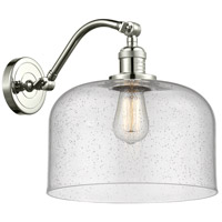 Innovations Lighting 515-1W-PN-G74-L X-Large Bell 1 Light 12 inch Polished Nickel Sconce Wall Light Franklin Restoration