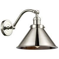 Innovations Lighting 515-1W-PN-M10-PN-LED Briarcliff LED 8 inch Polished Nickel Sconce Wall Light, Franklin Restoration