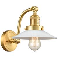 Innovations Lighting 515-1W-SG-G1-LED Halophane LED 9 inch Satin Gold Sconce Wall Light Franklin Restoration