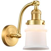 Innovations Lighting 515-1W-SG-G181S Small Canton 1 Light 7 inch Satin Gold Sconce Wall Light Franklin Restoration