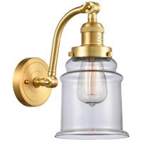 Innovations Lighting 515-1W-SG-G182-LED Canton LED 7 inch Satin Gold Sconce Wall Light Franklin Restoration