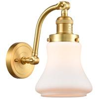 Innovations Lighting 515-1W-SG-G191-LED Bellmont LED 7 inch Satin Gold Sconce Wall Light Franklin Restoration