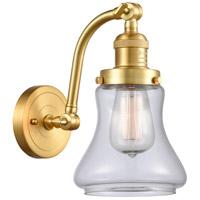 Innovations Lighting 515-1W-SG-G192-LED Bellmont LED 7 inch Satin Gold Sconce Wall Light Franklin Restoration