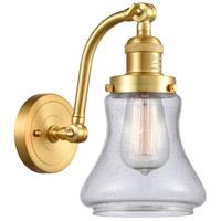 Innovations Lighting 515-1W-SG-G194-LED Bellmont LED 7 inch Satin Gold Sconce Wall Light Franklin Restoration