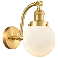 Innovations Lighting 515-1W-SG-G201-6-LED Beacon LED 6 inch Satin Gold Sconce Wall Light Franklin Restoration